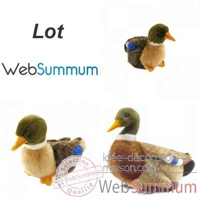 Lot 3 peluches canards Colvert Anima  -LWS-449