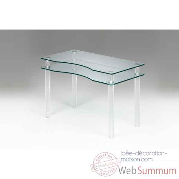 Bureau en plexiglas & verre Marais International -MT25P