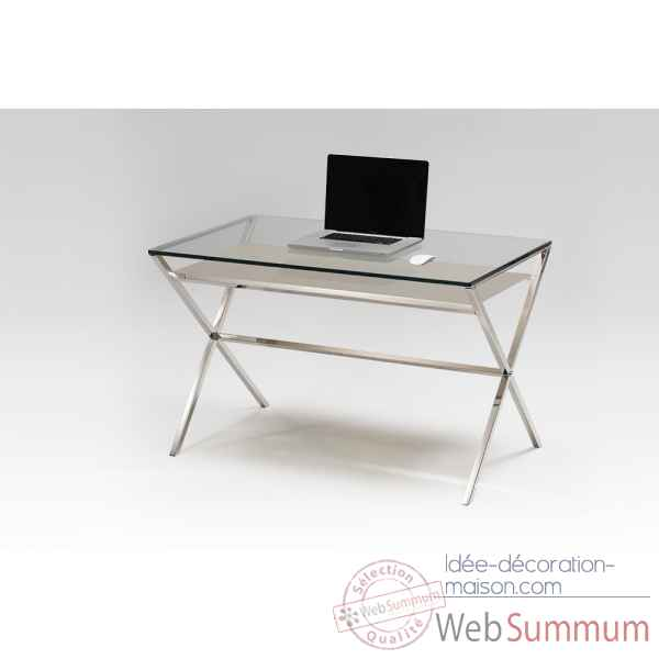 Bureau en verre & inox Marais International -XL470