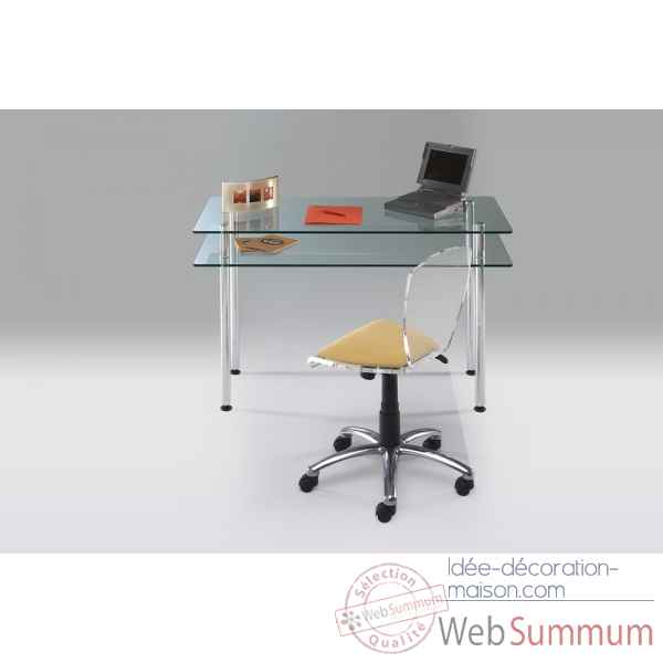 Bureau en verre Marais International -MTUB900