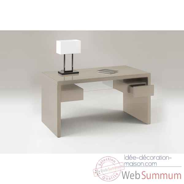 Bureau laque taupe Marais International -SYRA470LT
