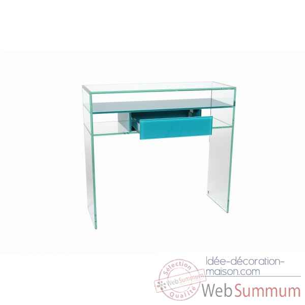 Console avec tiroir en verre colore Marais International -COLCONSO80