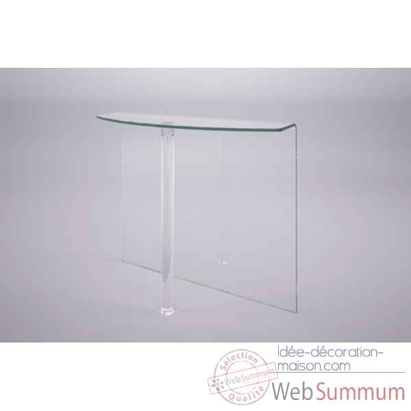 Console en verre bombe Marais International -MC500