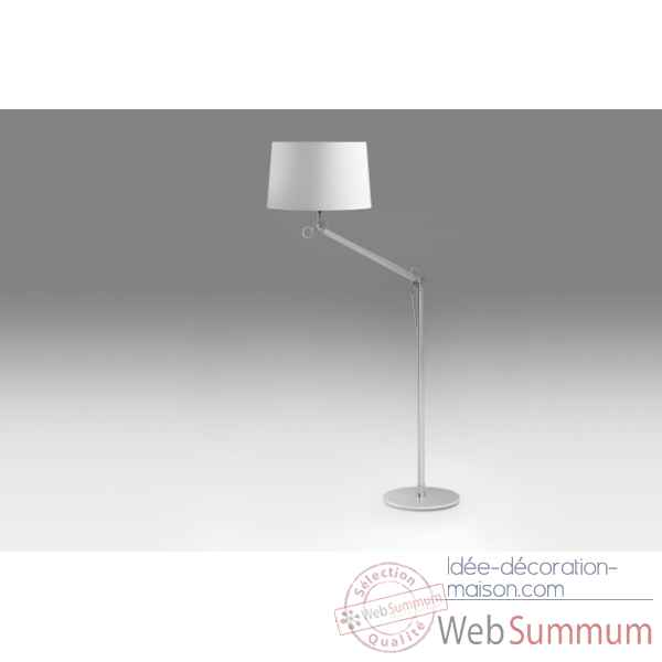 Lampadaire en aluminium & tissu Marais International -EVOLIGHT