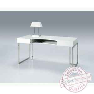 Les independants - bureau en mdf laque blanc BOX470B