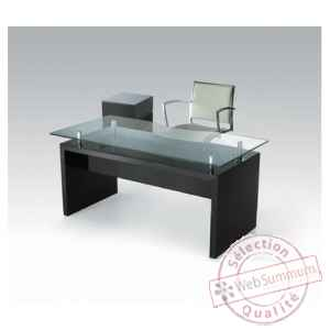 Les independants - bureau en mdf laque noir HALL470