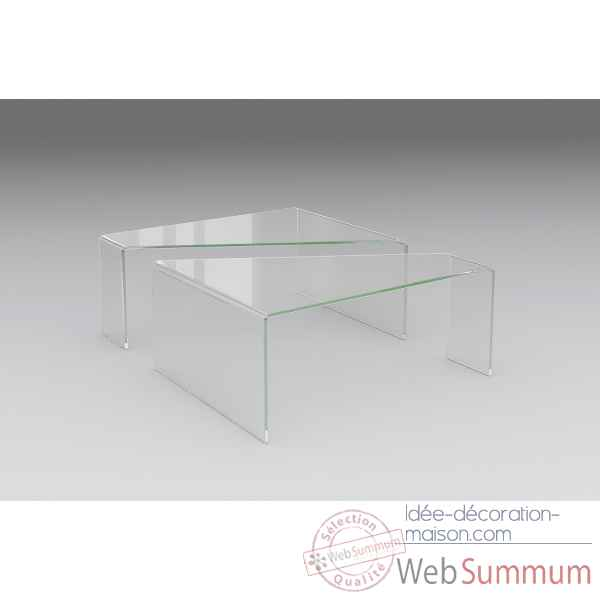Table basse en verre extra-clair Marais International -VETRO-CLUB
