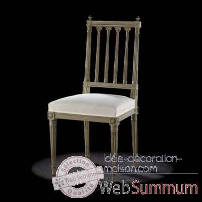 Chaise louis xvi colonne Massant -L16T14