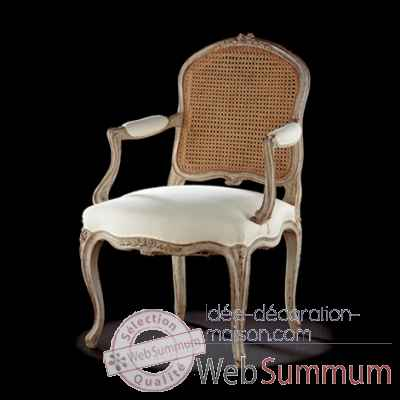 Fauteuil louis xv blanchard/dos canne Massant -L15TFA3/1