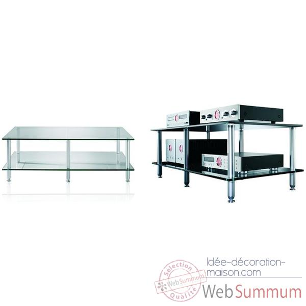 Meuble Audio Video Vincent  Glas 4 - 4 etageres - Verre - 203793