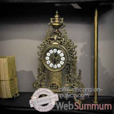 Horloge en laiton finition antique Objet de Curiosite -DL115