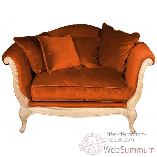 Canape velours orange harmonie Opjet