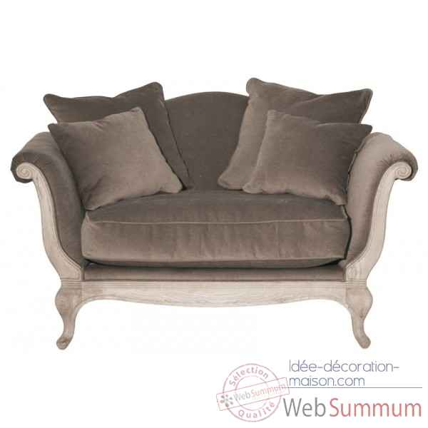 Canape velours taupe harmonie Opjet