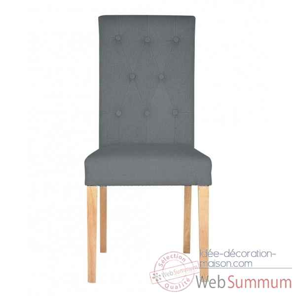 Chaise amelie lin anthracite Opjet