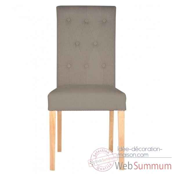 Chaise amelie lin taupe Opjet