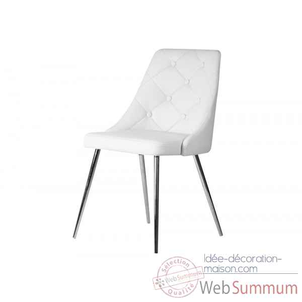 Chaise cabriole blanche Opjet