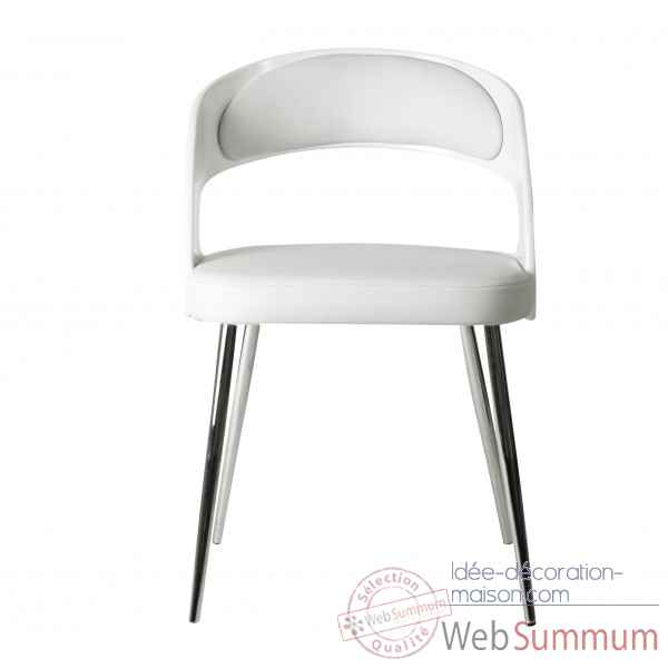 Chaise cambre blanche Opjet