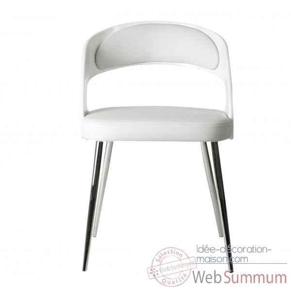 Chaise cambre blanche opjet dans chaise design de meuble for Chaise blanche salon