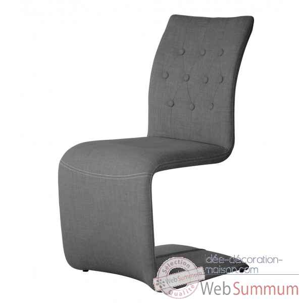 Chaise capitonnee zag anthracite Opjet