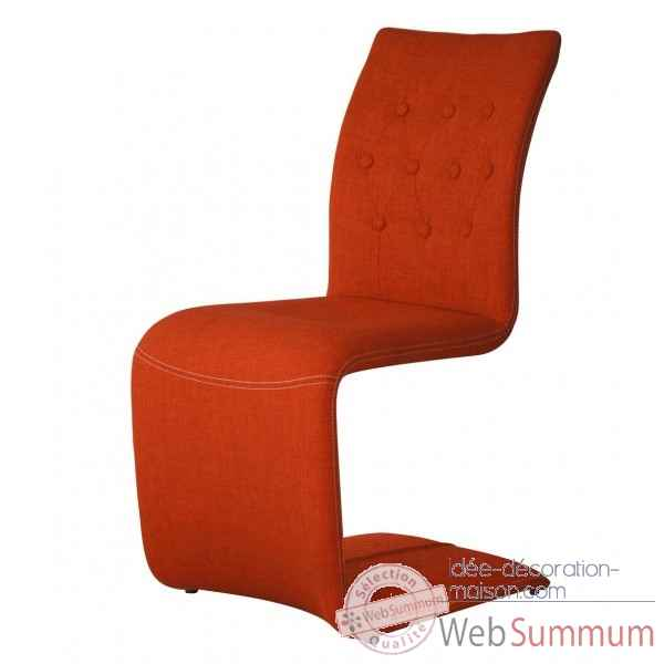 Chaise capitonnee zag orange Opjet