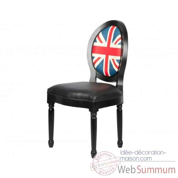 chaise medaillon simili cuir drapeau anglais opjet dans chaise design de meuble salon sur id e. Black Bedroom Furniture Sets. Home Design Ideas