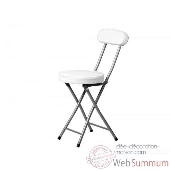 chaise pliante marco blanche opjet dans chaise design de. Black Bedroom Furniture Sets. Home Design Ideas