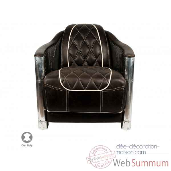 fauteuil aviateur cuir vieilli howard opjet dans chaise. Black Bedroom Furniture Sets. Home Design Ideas