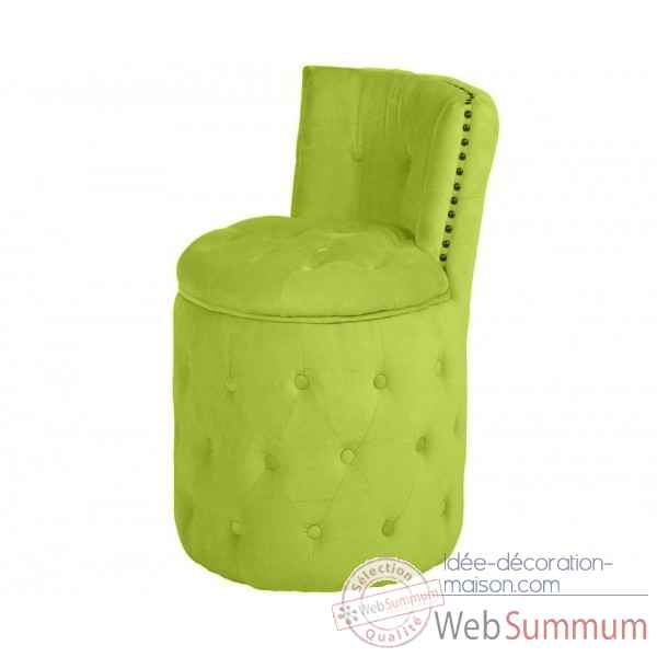 Fauteuil capitonne rond anis amelie Opjet