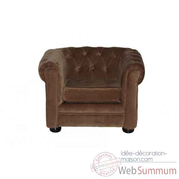 Fauteuil chesterfield taupe enfant Opjet