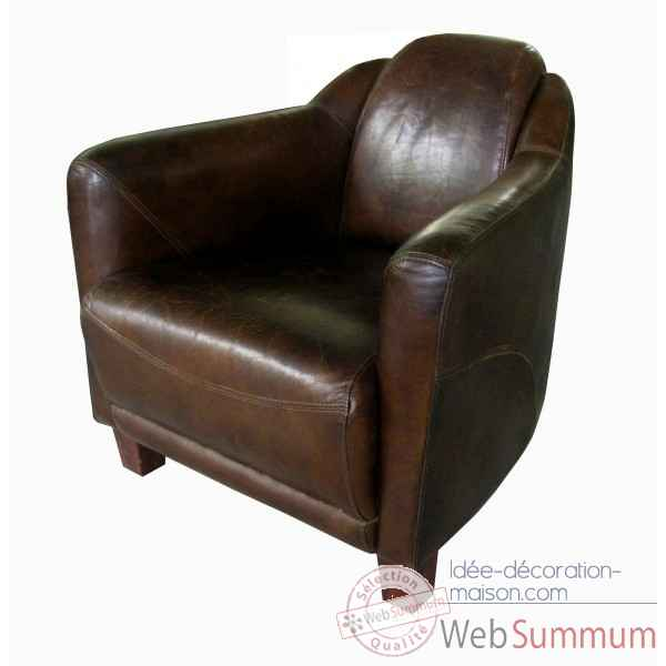 Fauteuil club cuir aero vintage Opjet