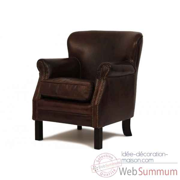 Fauteuil club cuir vintage Opjet