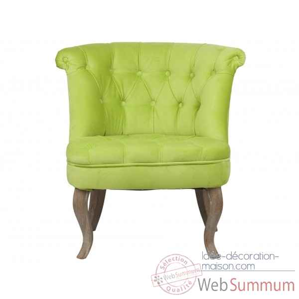 Fauteuil crapaud capitonne anis trianon Opjet