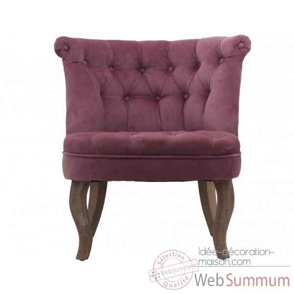 Fauteuil crapaud capitonne rose trianon Opjet