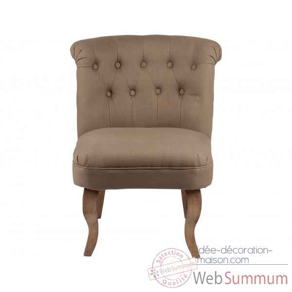Fauteuil crapaud capitonne taupe chambord Opjet