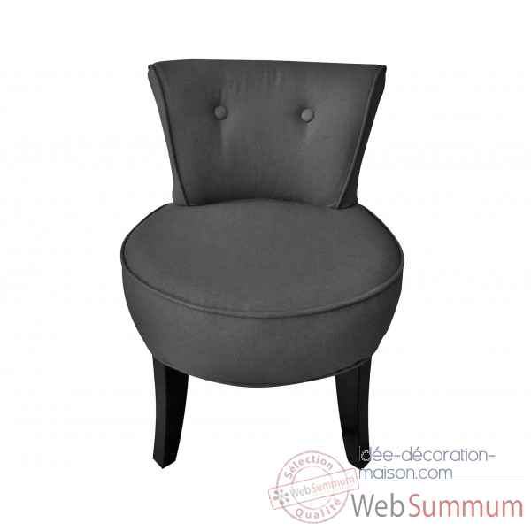 fauteuil crapaud capitonne gris velours trianon opjet dans chaise design de meuble salon sur. Black Bedroom Furniture Sets. Home Design Ideas