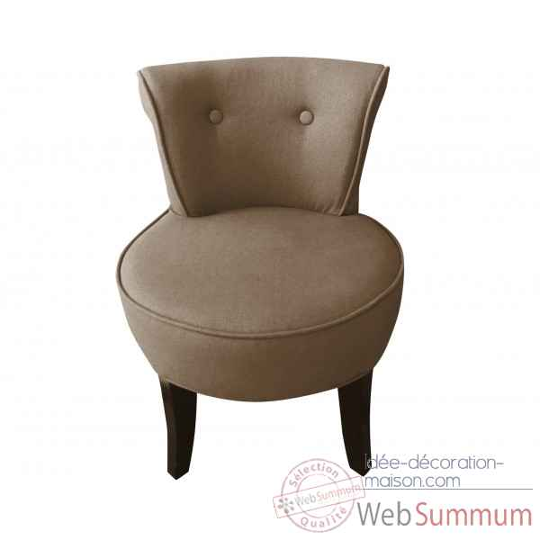 fauteuil crapaud lin taupe opjet dans chaise design de. Black Bedroom Furniture Sets. Home Design Ideas