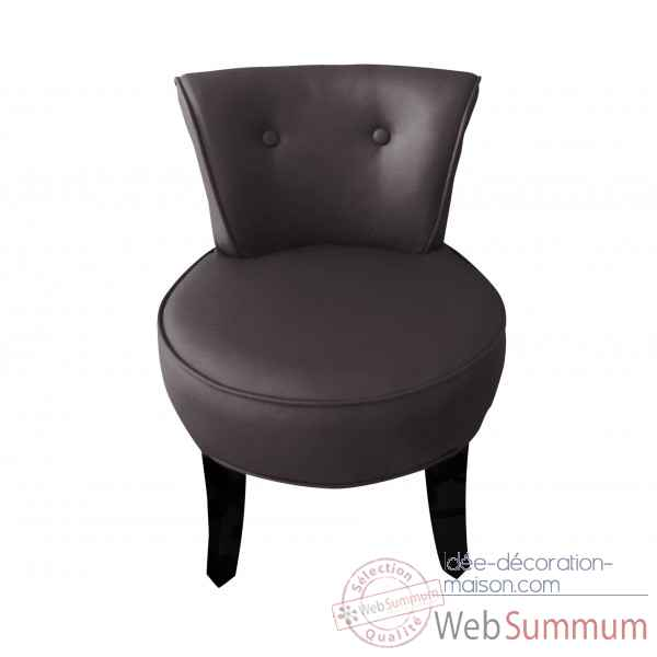 Fauteuil crapaud simili cuir choco Opjet