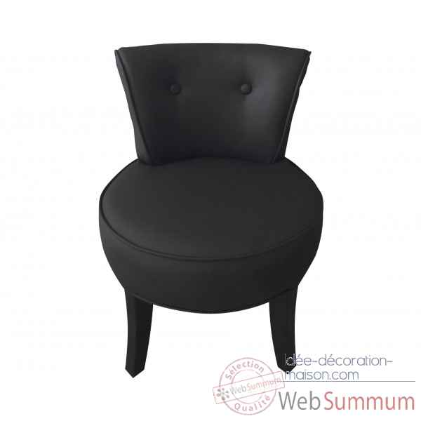 fauteuil crapaud simili cuir noir opjet photos id e. Black Bedroom Furniture Sets. Home Design Ideas