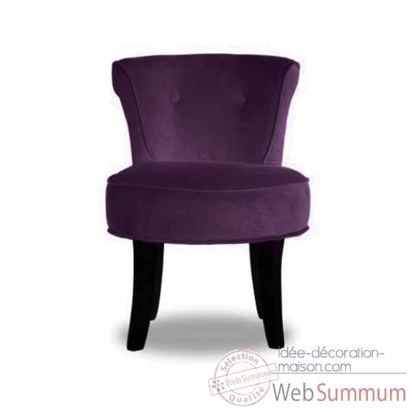 fauteuil crapaud velours aubergine opjet dans chaise. Black Bedroom Furniture Sets. Home Design Ideas