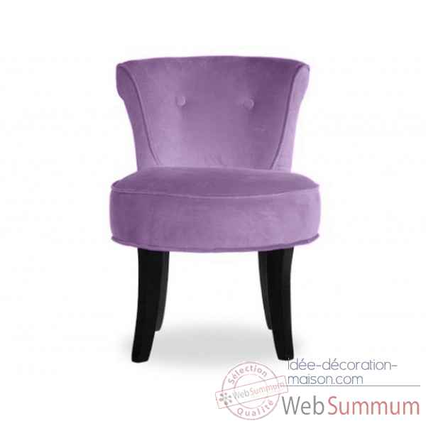 Fauteuil crapaud velours lilas Opjet