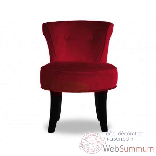 Fauteuil crapaud velours rouge Opjet