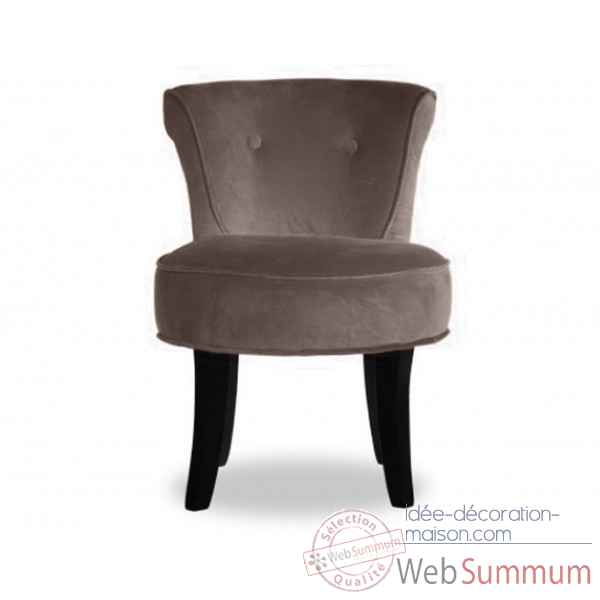 Fauteuil crapaud velours taupe Opjet