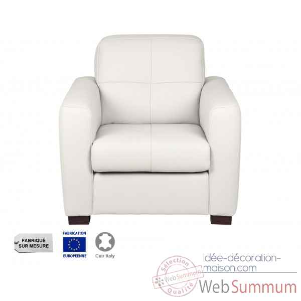 Fauteuil cuir blanc milano Opjet