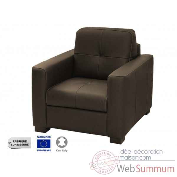Fauteuil cuir choco milano Opjet