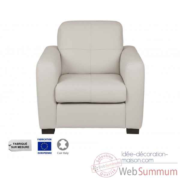 Fauteuil cuir gris milano Opjet