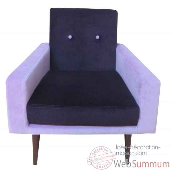 Fauteuil kennedy bicolore lilas Opjet