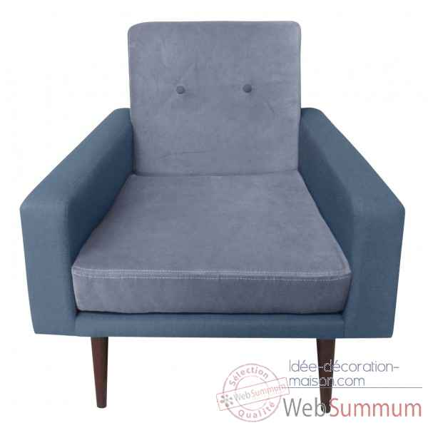 Fauteuil kennedy gris Opjet