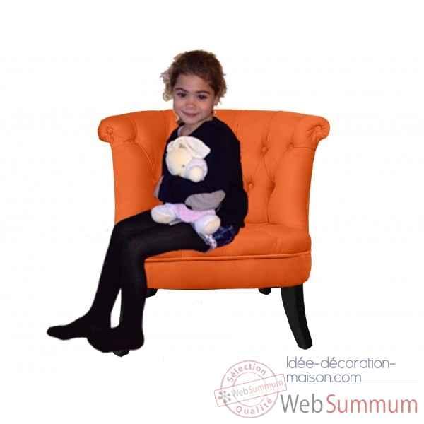 Petit fauteuil crapaud capitonne orange opjet dans chaise design de meuble sa - Petit fauteuil capitonne ...