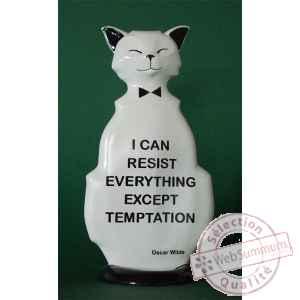 Figurine chat - wild cat resist temptation - wic04