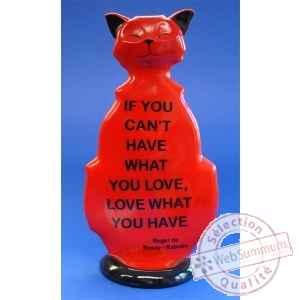Figurine chat - wise cat love what you have - wic07